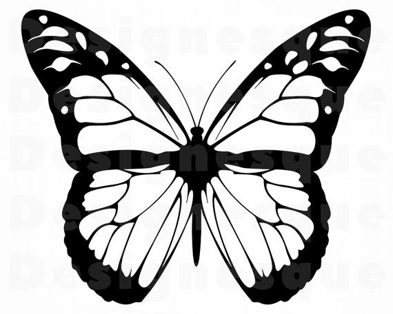 Download Free png Monarch Butterfly Outline SVG Butterfly SVG.