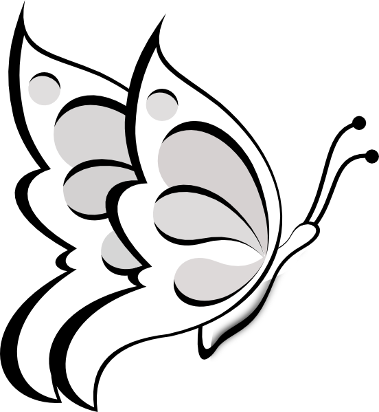 Butterfly Outline Clip Art.