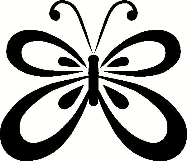 Showing post & media for Cartoon butterfly outline clip art.
