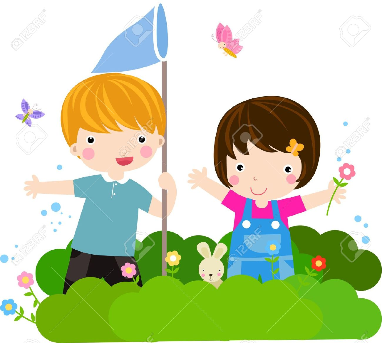 Kid butterfly clipart.