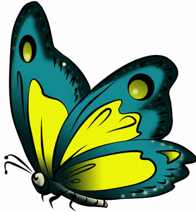 News Butterfly: Butterfly Cartoon Clipart.