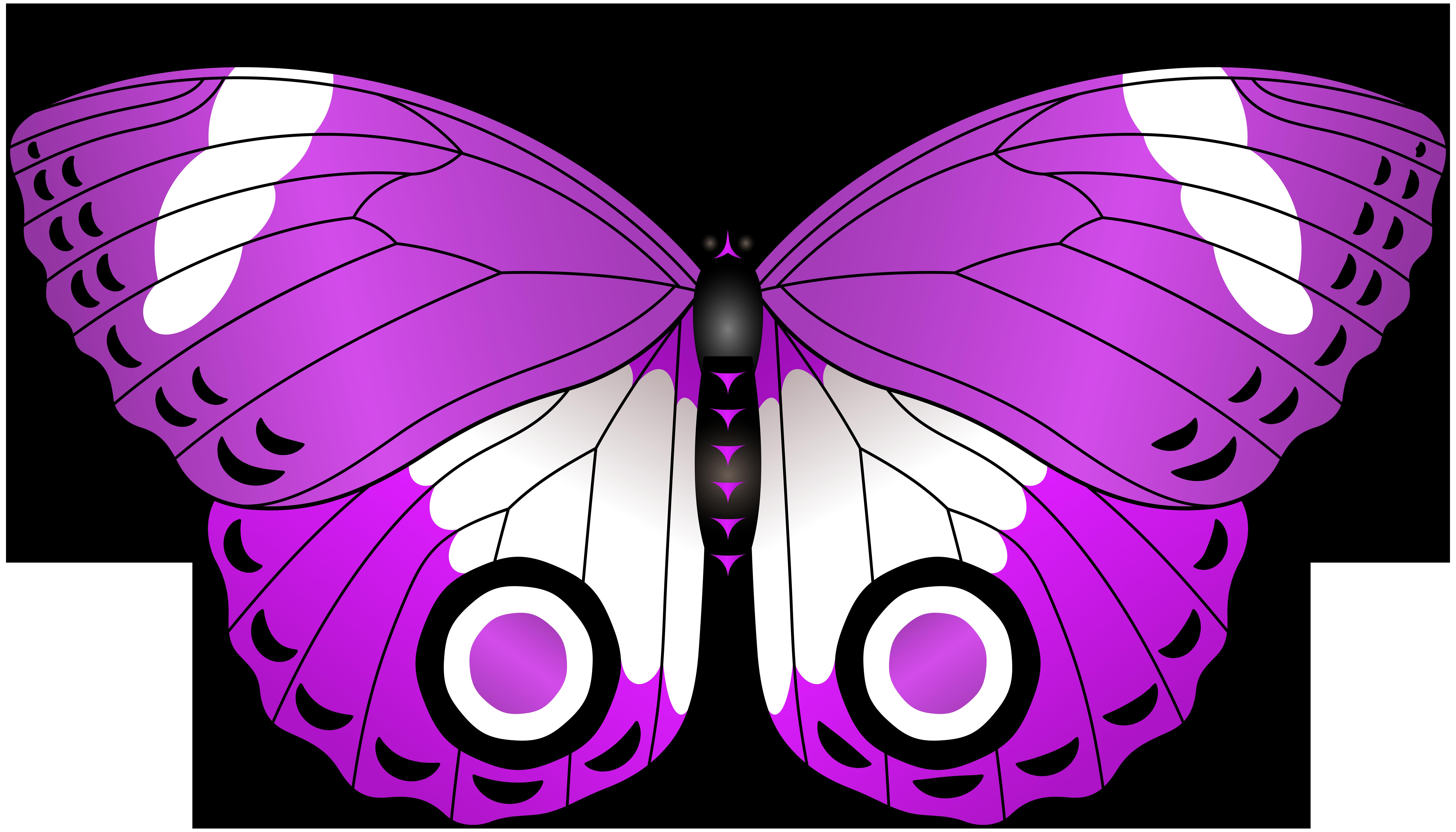 Purple Butterfly Transparent Clip Art Image.