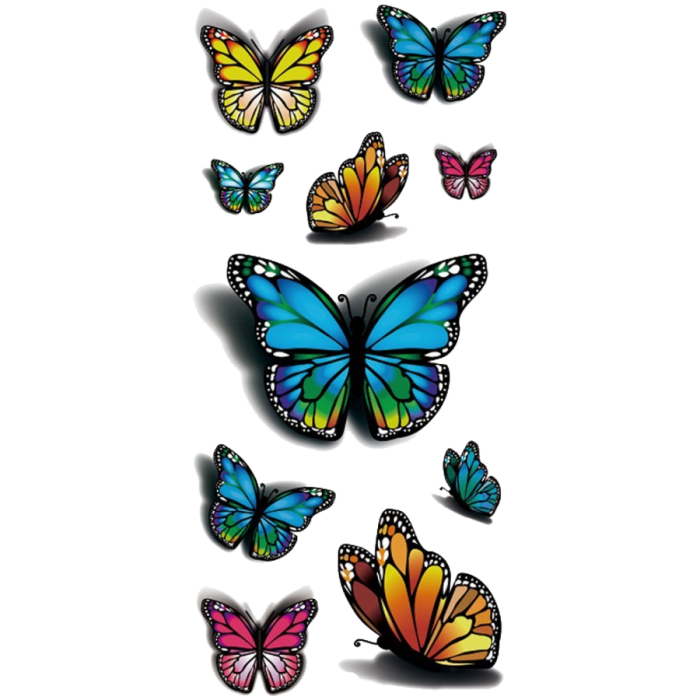 3d Butterfly Png 3 Vector, Clipart, PSD.