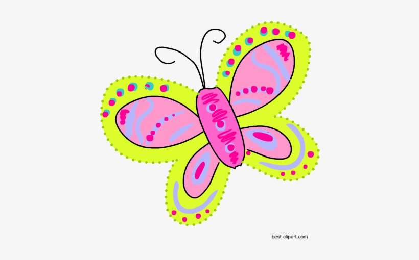 Colorful Butterfly Png Clip Art Image.
