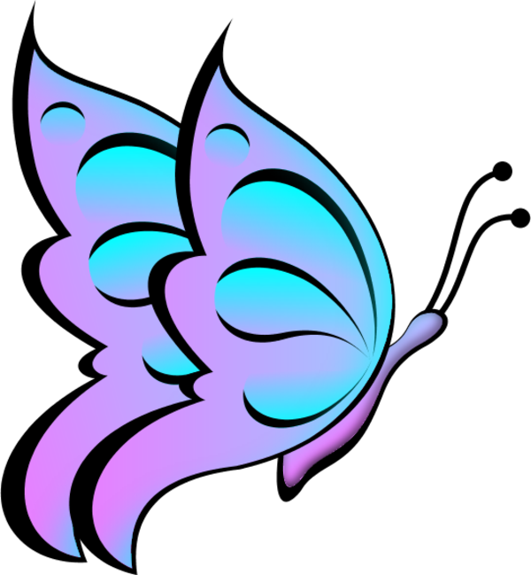 Butterfly Side View Clipart.