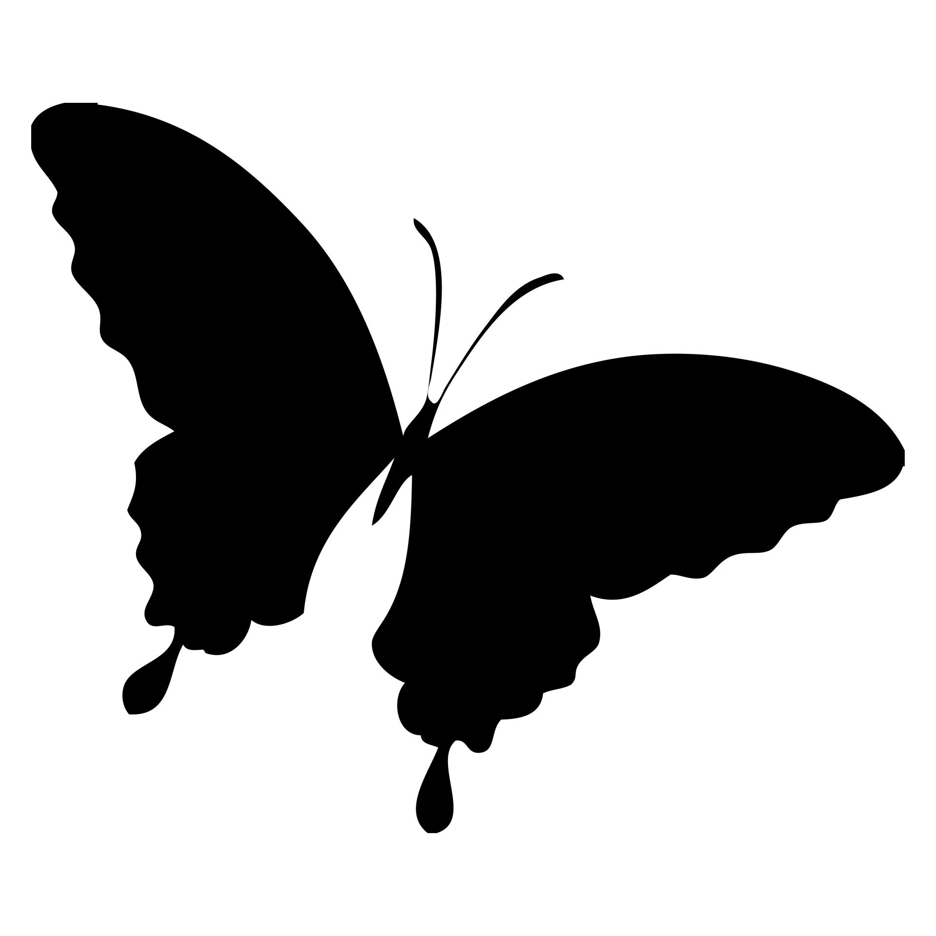 Butterfly Silhouette Clipart.