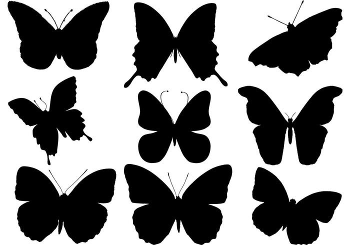 Free Butterfly Silhouette Vector.