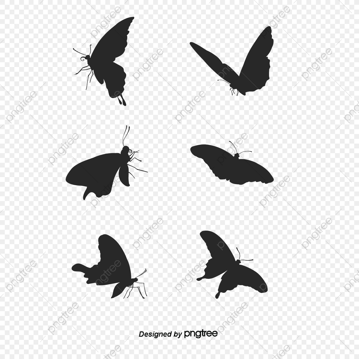 Butterfly Silhouette, Butterfly Clipart, Silhouette Clipart PNG.