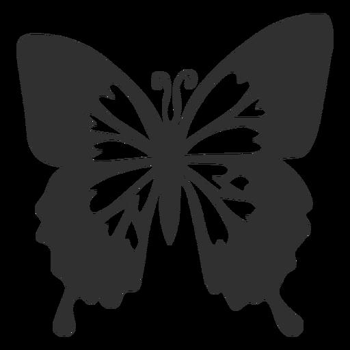 Blue emperor butterfly silhouette.