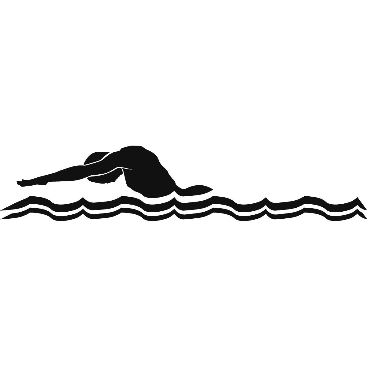 Clip Art Male Swimmer Butterfly Stroke Green Swimming.