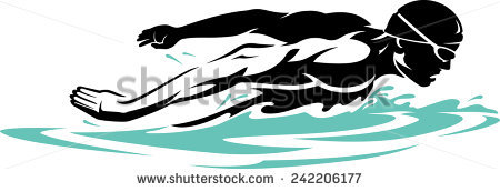 Swimming Butterfly Stock Images, Royalty.