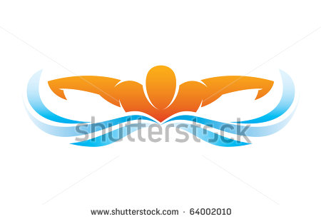 Swimming Butterfly Clipart.