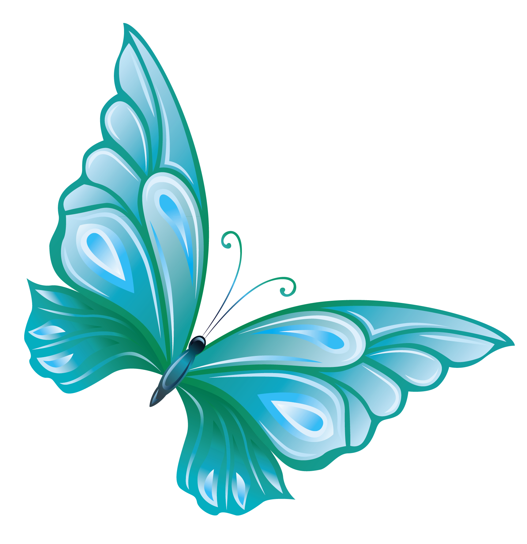 Butterfly Talking Clipart.
