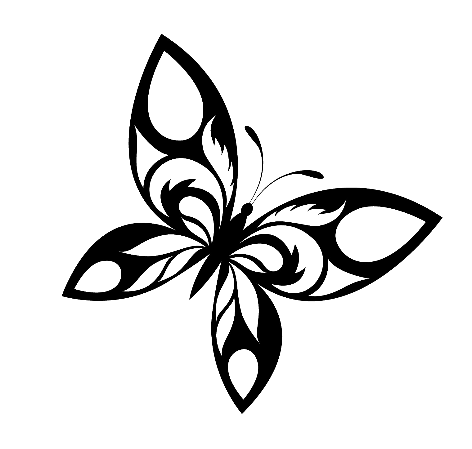 Butterfly Tattoo Designs PNG Transparent Images.