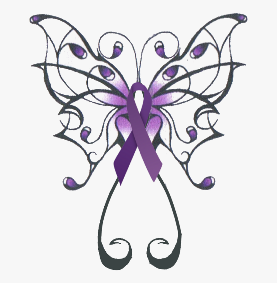 Swirly Butterfly Tattoo Design Clipart , Png Download.