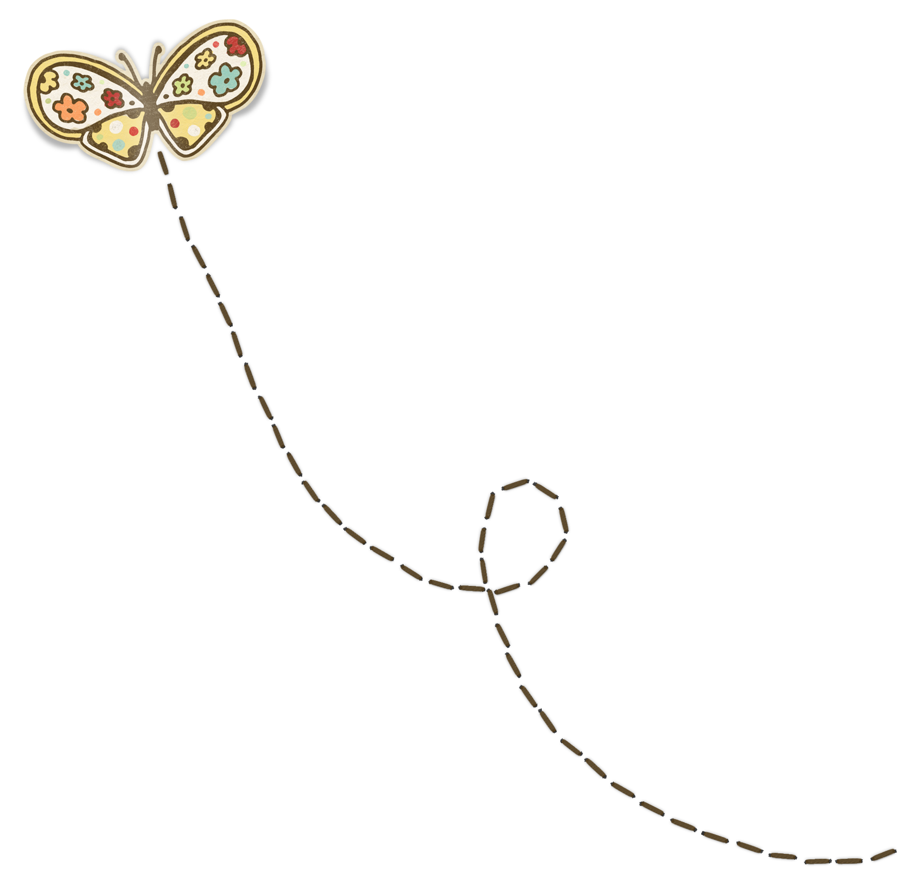 Trail clipart butterfly, Trail butterfly Transparent FREE.