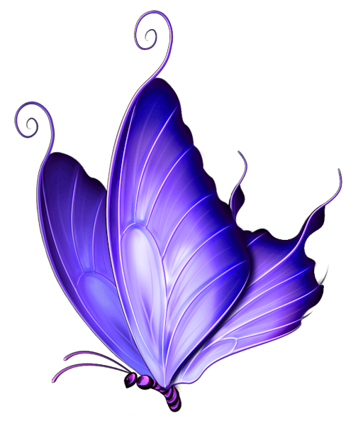 Purple Butterfly Clipart Transparent Background.