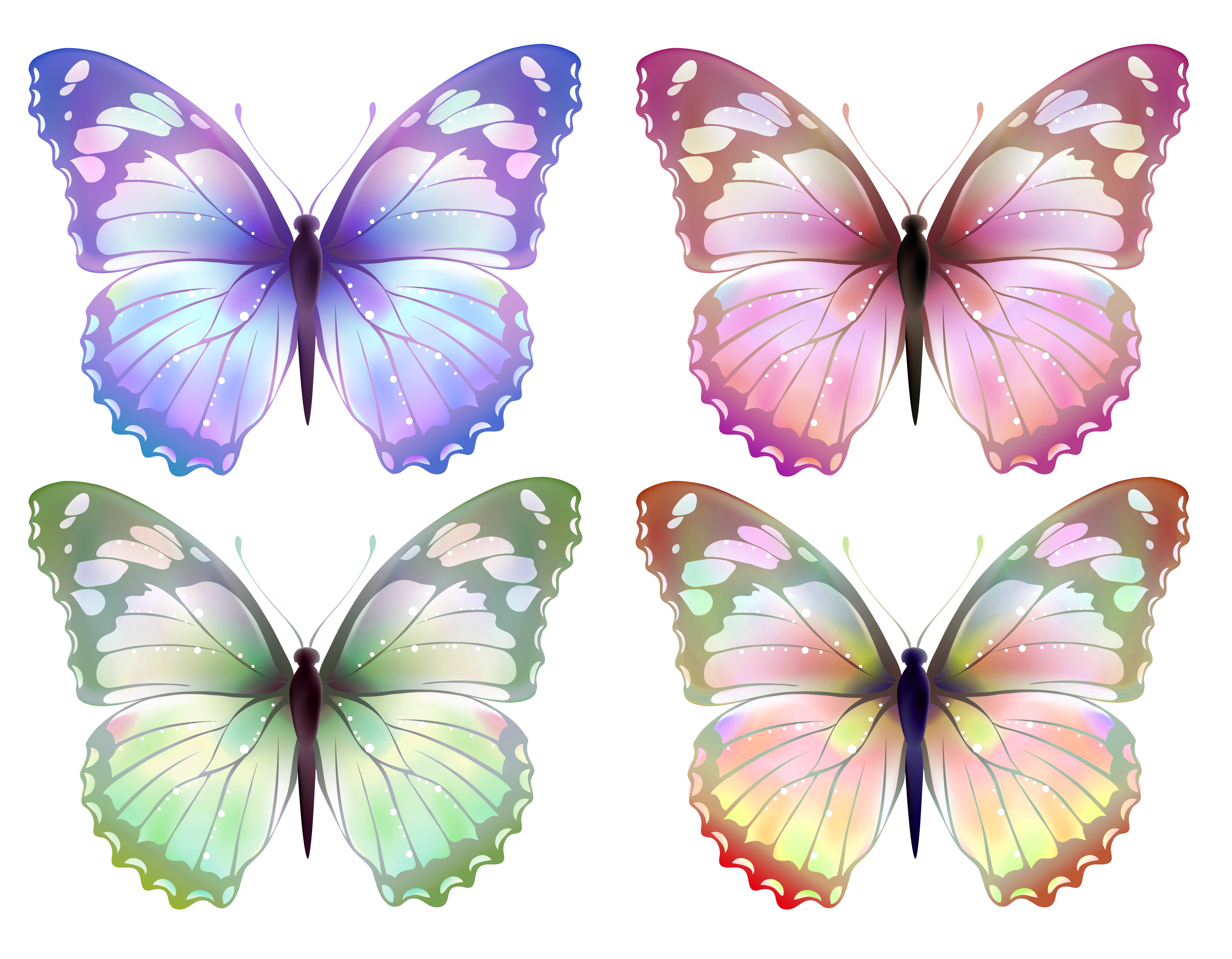 Transparent Butterfly PNG Clipart.