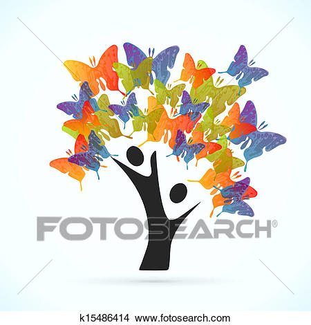 Butterfly Tree Clipart.