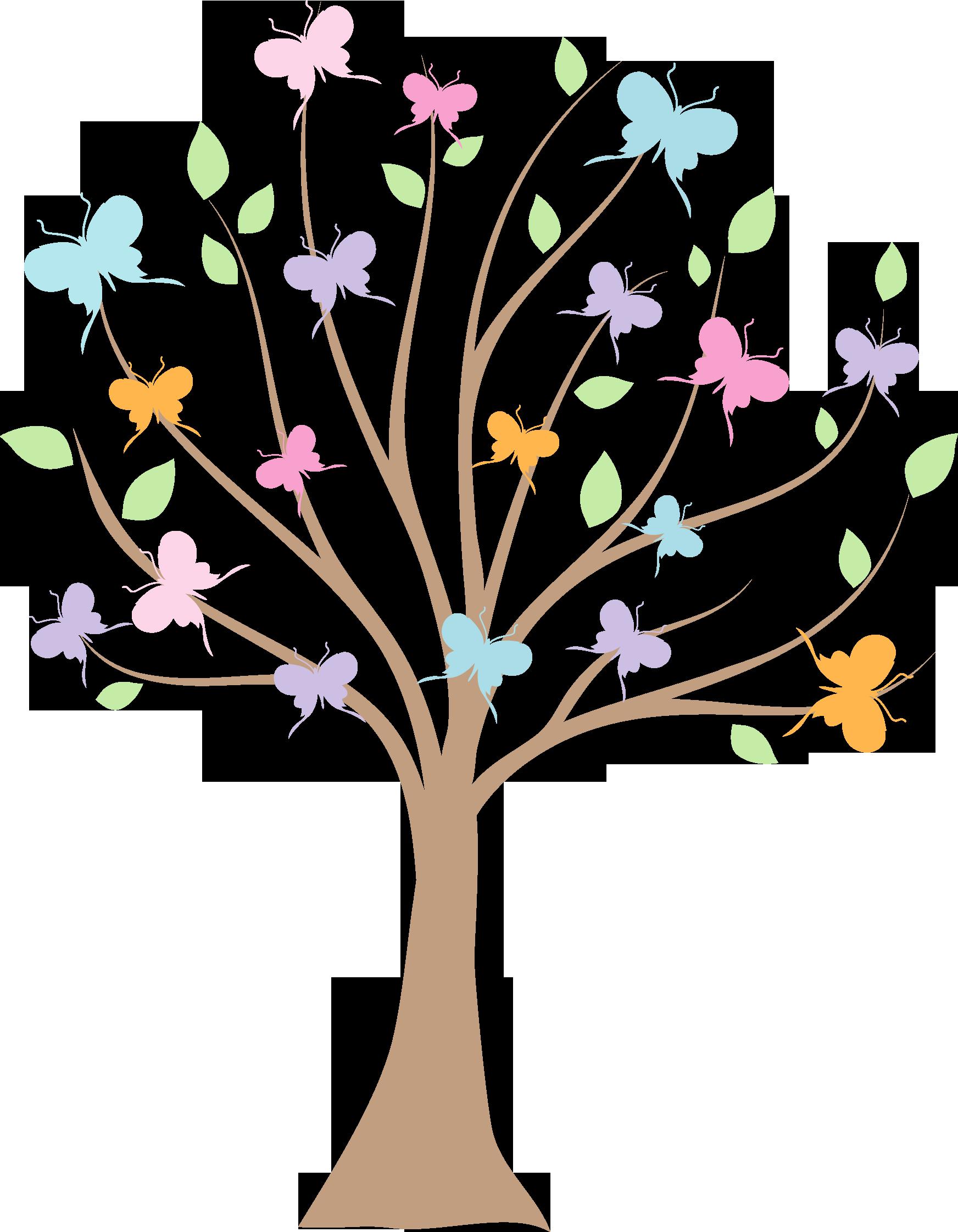 Clipart butterfly tree, Clipart butterfly tree Transparent.