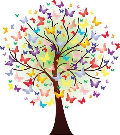 18,968 Butterfly Tree Stock Vector Illustration And Royalty.