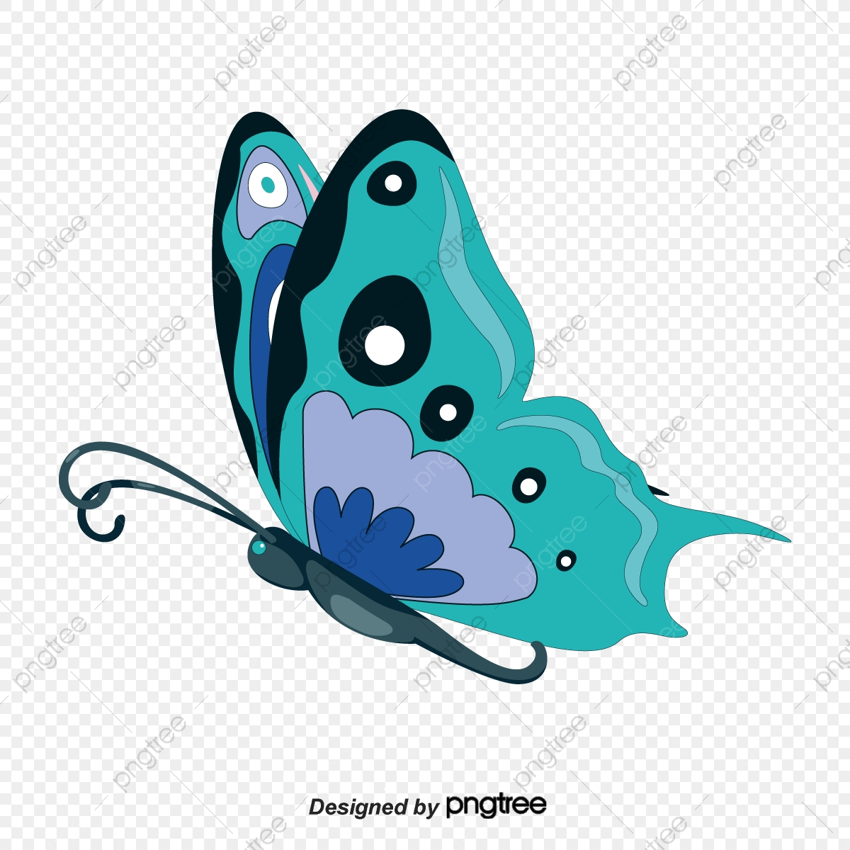 Flying Butterfly Clipart, Butterfly Vector PNG and Vector with.