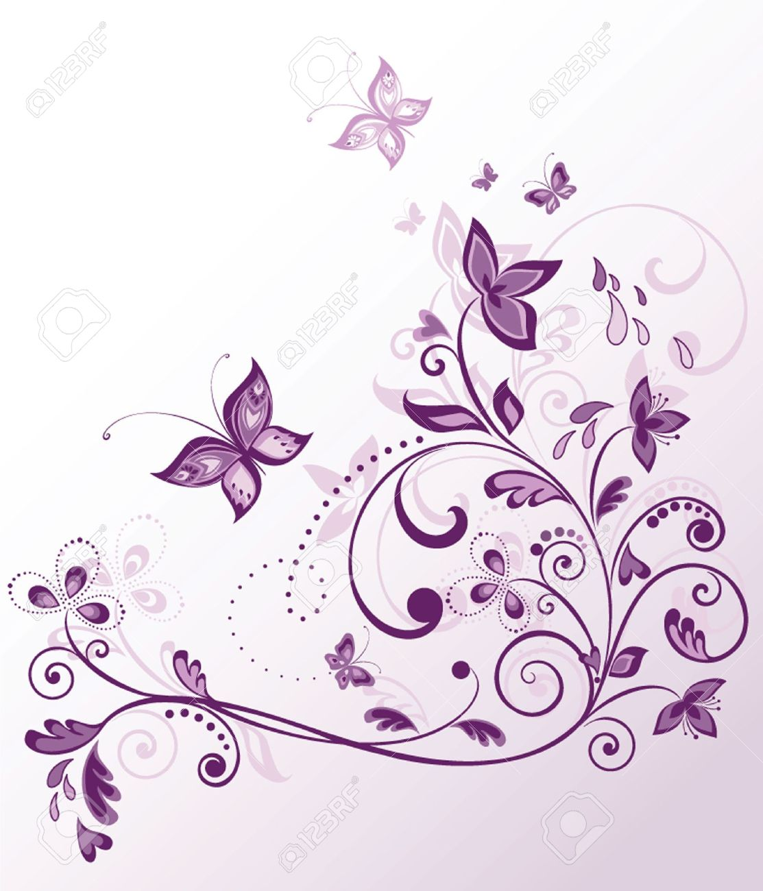 6,188 Violet Butterfly Stock Vector Illustration And Royalty Free.