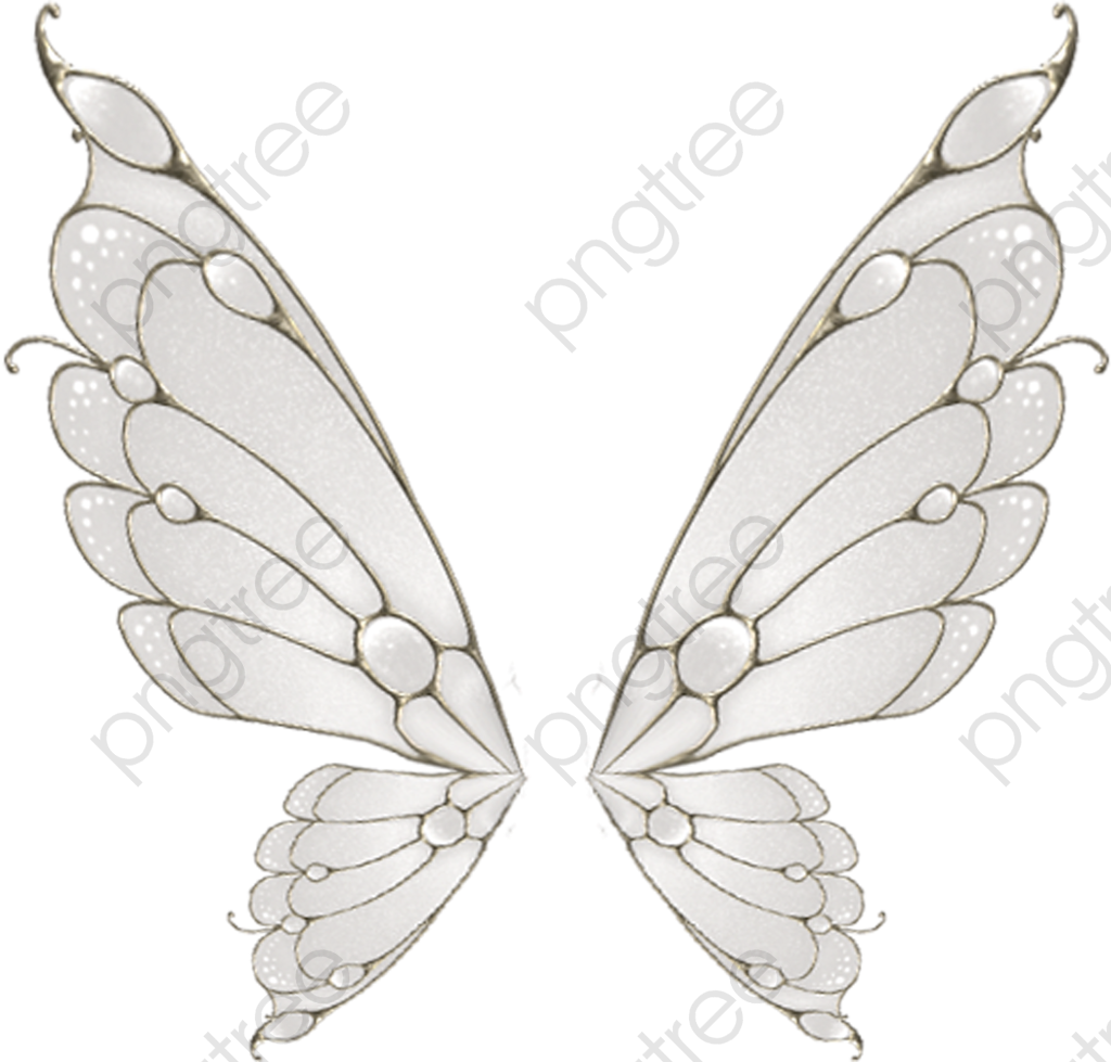 Painted White Butterfly Wings, Butterfly Clipart, Wings Clipart.