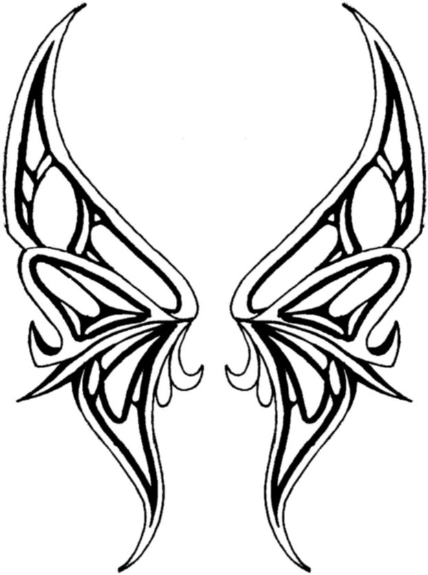 Free Butterfly Wing Outline, Download Free Clip Art, Free Clip Art.