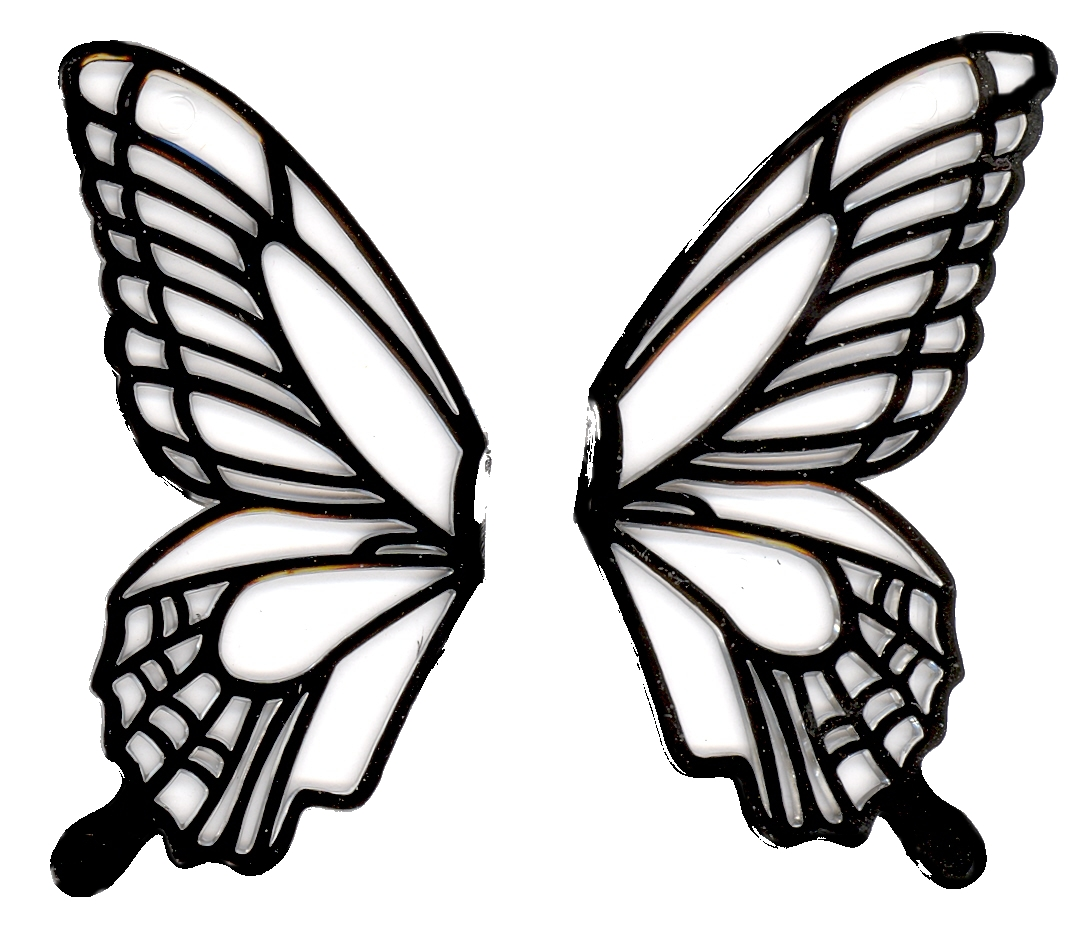 Butterfly Wings Black And White Clipart - Clipground