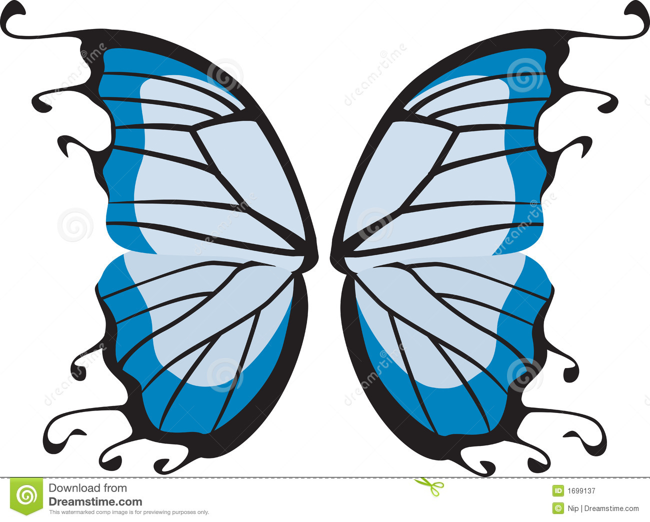 Butterfly Wings Royalty Free Stock Photography.