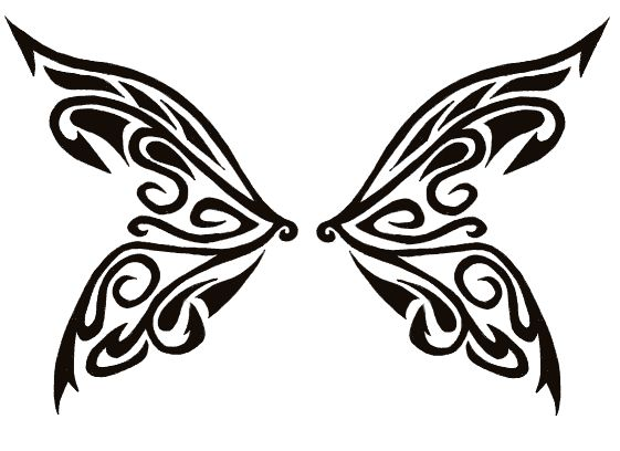 butterfly wing tatoo.