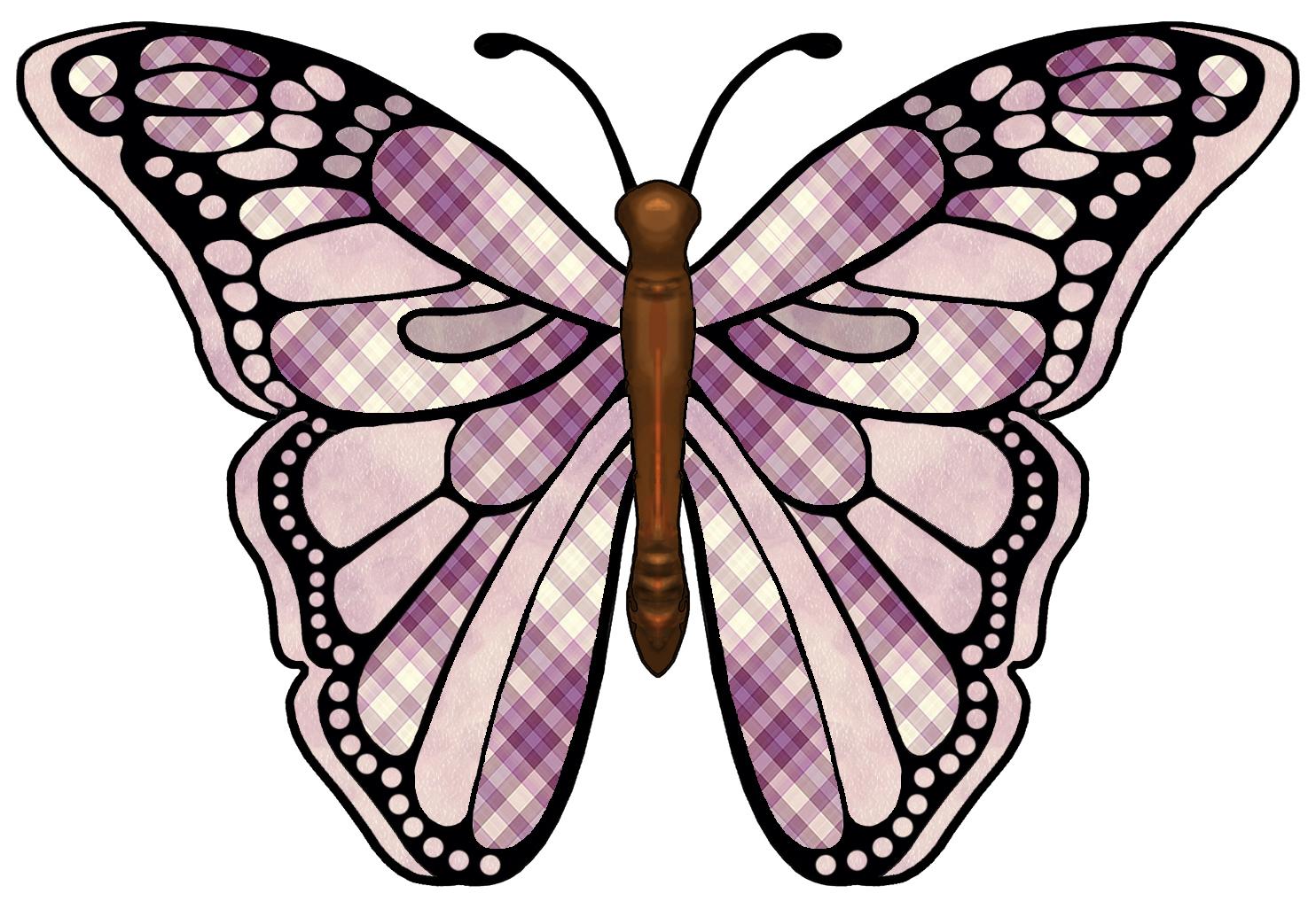 Clip Art Butterfly Wings Pattern Clipart.