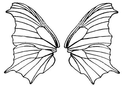 Butterfly wings clipart.