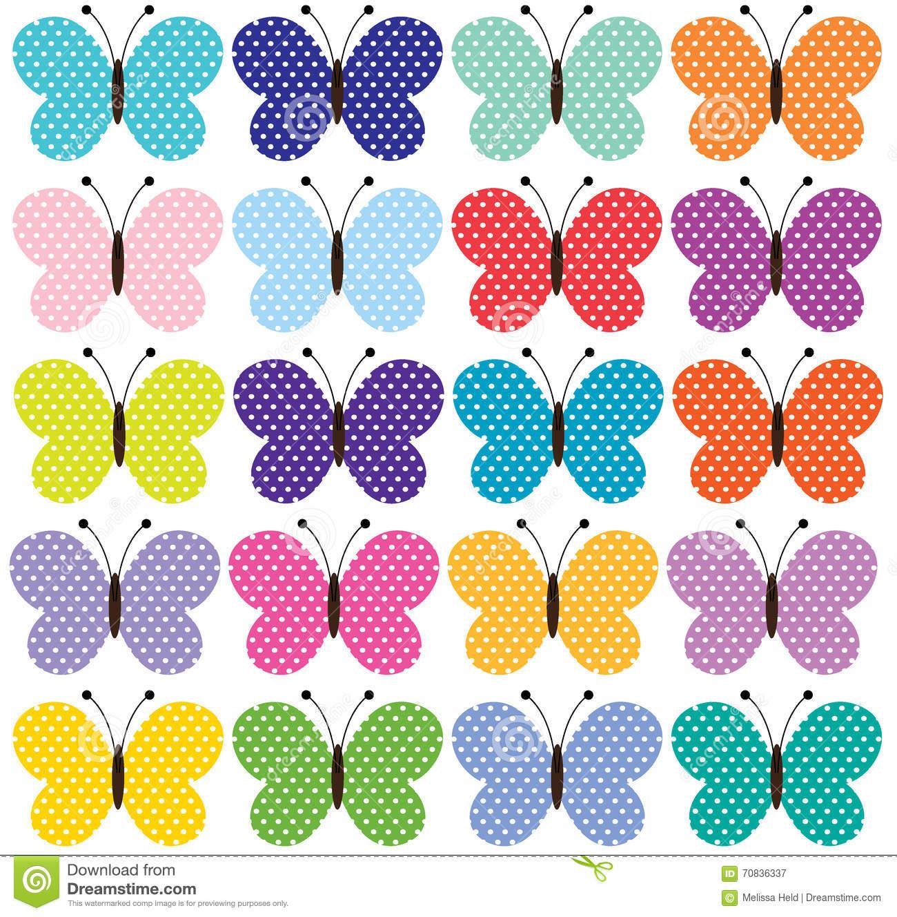 Butterflies Clipart Stock Illustration.