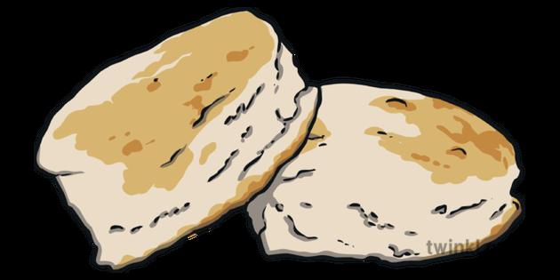 Buttermilk Biscuits Illustration.