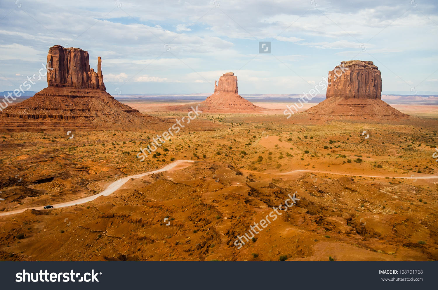 The Famous Buttes Of Monument Valley Navajo National Park, Utah.
