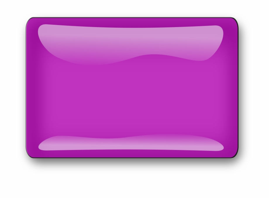Button Clipart Purple Button 3D Shape Vector Png.
