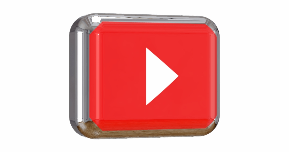 Youtube Play Button 3d Png.