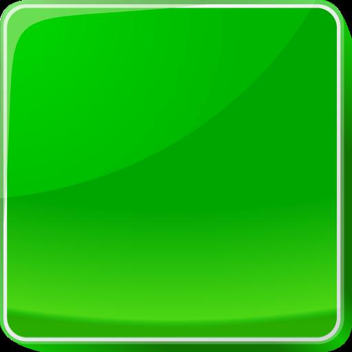 Button, green icon.