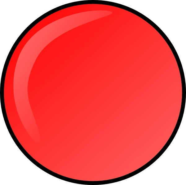 Red Round Button clip art Free vector in Open office drawing svg.