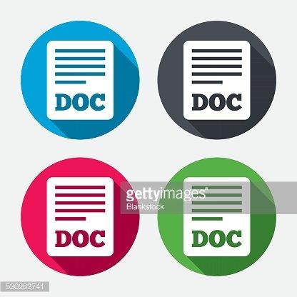 File document icon. Download doc button. Clipart Image.