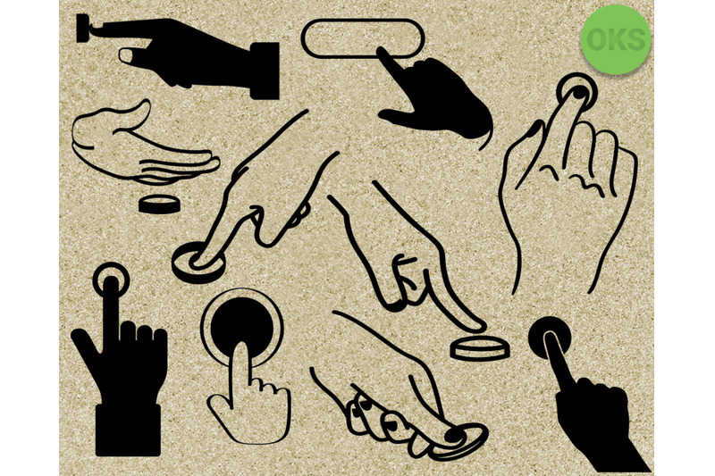 finger pushing a button svg, svg files, vector, clipart.