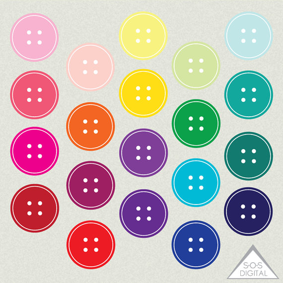 Button Clipart, Cute Button Clip art, PNG Buttons, PNG Files.