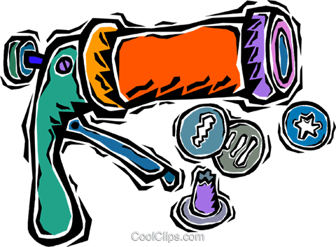 button maker Royalty Free Vector Clip Art illustration.