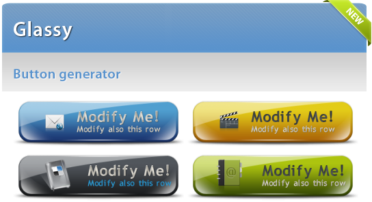 New high quality Glassy button generator released « My cool button blog.