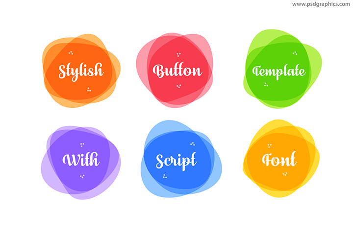 Stylish round vector buttons.