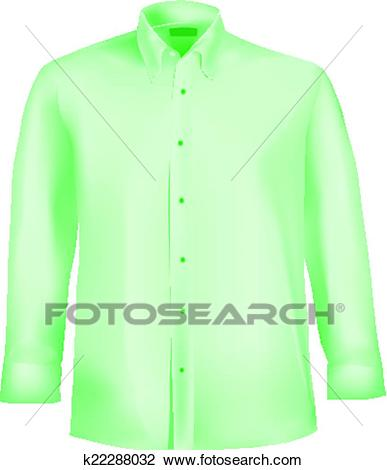 Formal shirt with button down collar Clipart.