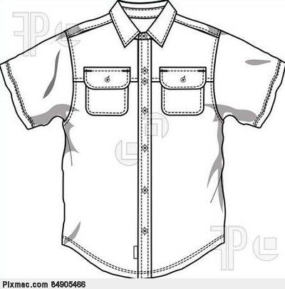 Button Down Shirt Coloring Page.