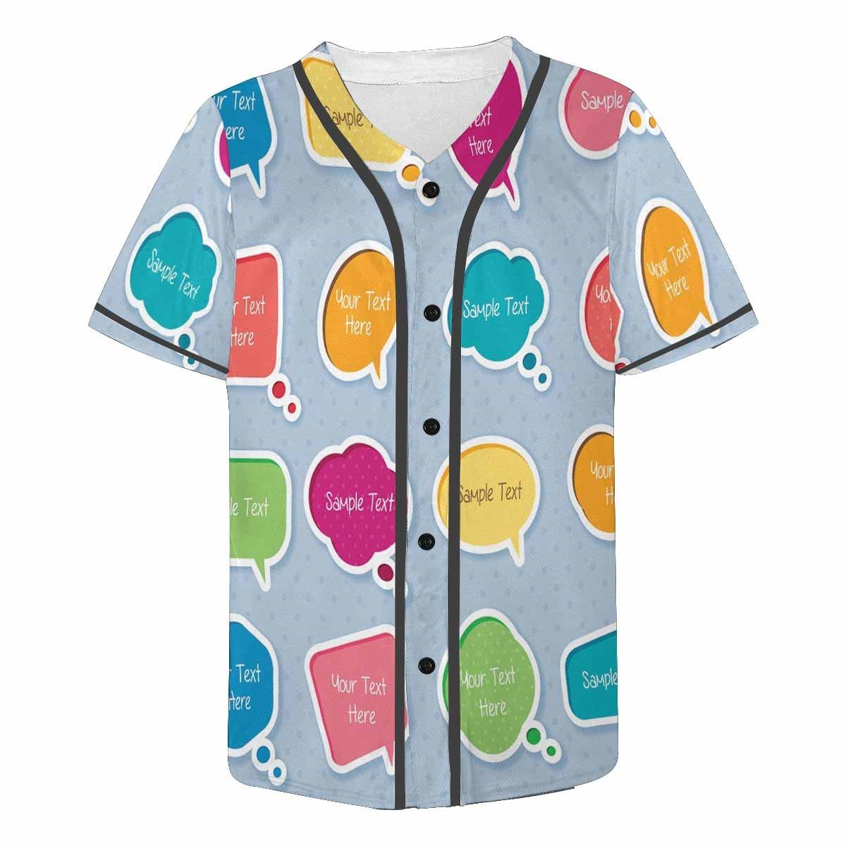 Amazon.com: INTERESTPRINT Men\'s Button Down Baseball Jersey.